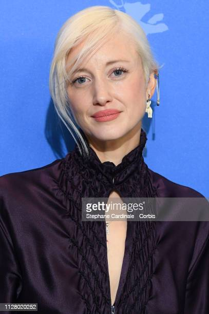 Andrea Riseborough pose at the 'The Kindness Of Strangers' photocall during the 69th Berlinale International Film Festival Berlin at Grand Hyatt...