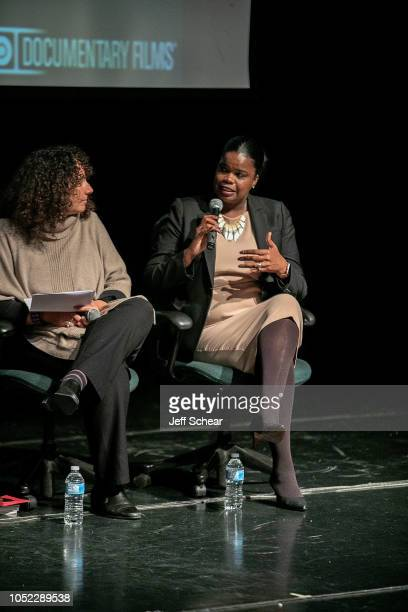 Andrea Ritchie and Kim Foxx attend Say Her Name The Life and Death of Sandra Bland Preview and Panel at The DuSable Museum of African American...