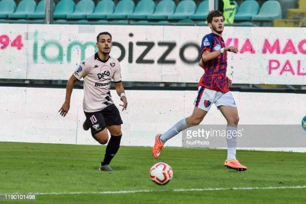 Andrea Rizzo Pinna during the serie D match between SSD Palermo and ASD Troina at Stadio Renzo Barbera on December 22, 2019 in Palermo, Italy.