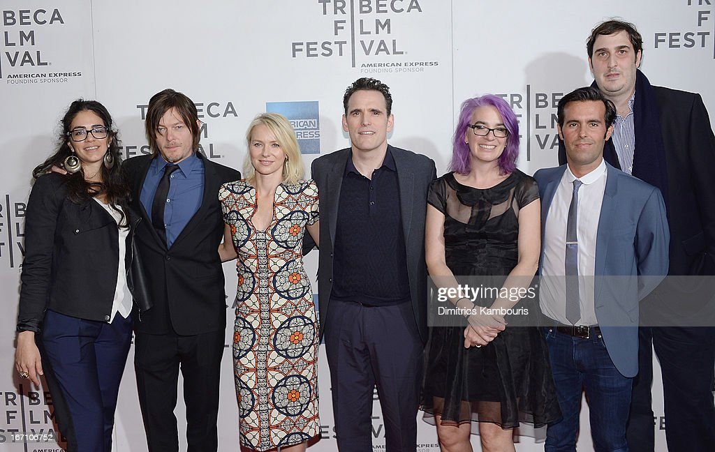 Andrea Roa, Norman Reedus, Naomi Watts, Matt Dillion, director Laurie Collyer, Charlie Corwin and Ariel Elia attend the screening of 'Sunlight Jr.' during the 2013 Tribeca Film Festival at BMCC Tribeca PAC on April 20, 2013 in New York City.
