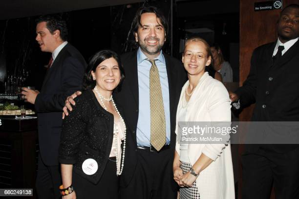 Andrea Rosen Michael Gallagher and Liate Stehlik attend LITERACY ASSOCIATES benefit for Literacy Partners at Tenjune on June 2 2009 in New York City