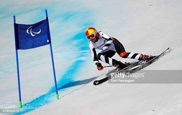 Andrea Rothfuss of Germany competes in the Women's Giant Slalom Standing during day nine of the Sochi 2014 Paralympic Winter Games at Rosa Khutor...