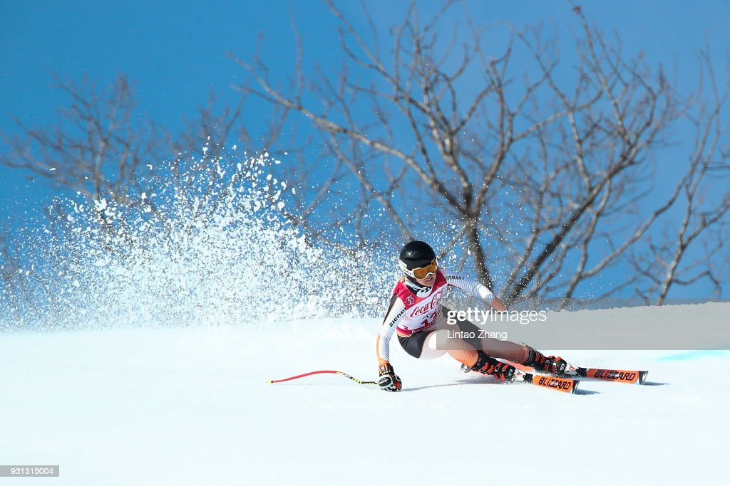 Andrea Rothfuss of Germany competes in the Women's Super Combined, Visually Impaired Alpine Skiing event at Jeongseon Alpine Centre during day four of the PyeongChang 2018 Paralympic Games on March 13, 2018 in Pyeongchang-gun, South Korea.