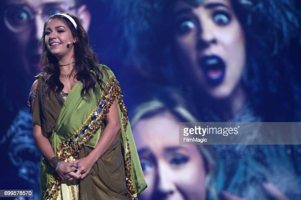 Andrea Russett appears at #YouTubeOnstage at VidCon 2017 at Anaheim Convention Center on June 21 2017 in Anaheim California