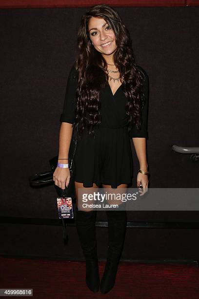 Andrea Russett arrives at DigiTour presents 'Jack Jack The Movie' Los Angeles premiere at Pacific Theatre at The Grove on December 4 2014 in Los...