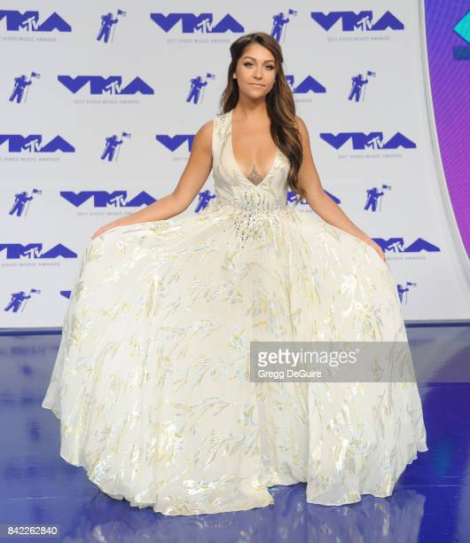 Andrea Russett arrives at the 2017 MTV Video Music Awards at The Forum on August 27 2017 in Inglewood California