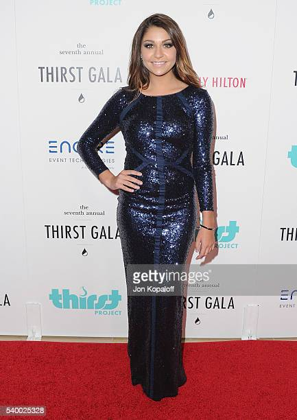 Andrea Russett arrives at the 7th Annual Thirst Gala at The Beverly Hilton Hotel on June 13 2016 in Beverly Hills California