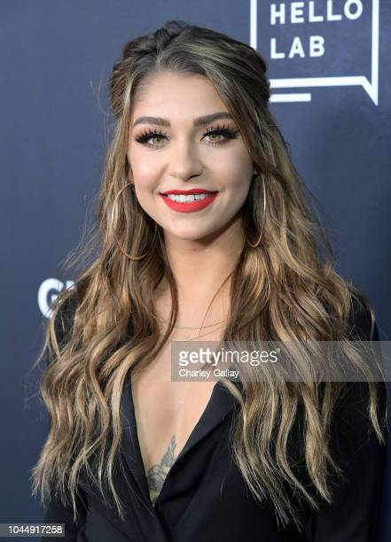 Andrea Russett attends the 'Guilty Party History of Lying' Season 2 premiere at ArcLight Cinemas on October 2 2018 in Hollywood California