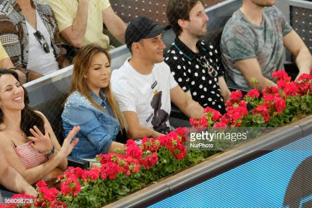 Andrea Salas and Keylor during day four of the Mutua Madrid Open tennis tournament at the Caja Magica on May 8 2018 in Madrid SpainNavas