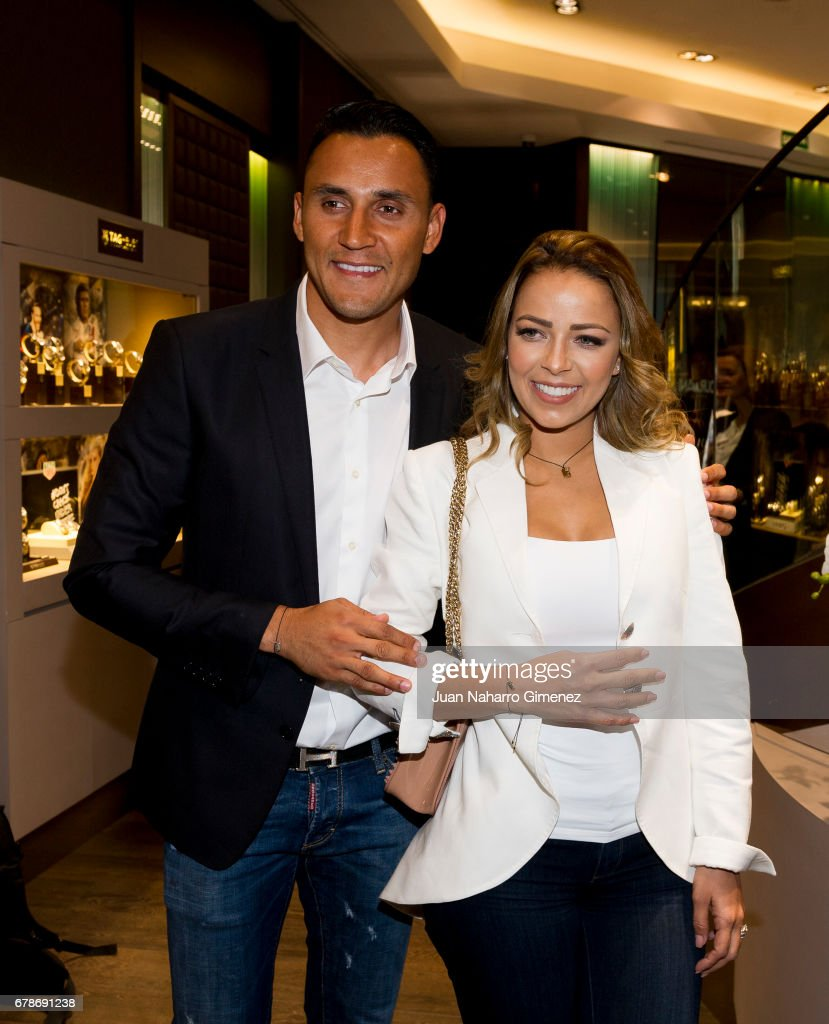 Andrea Salas And Keylor Navas Present Charity Jewelry Presentation
