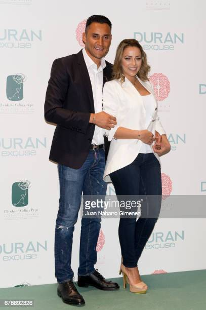 Andrea Salas and Keylor Navas attend charity jewelry presentation at Duran Store on May 4 2017 in Madrid Spain