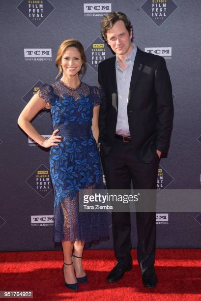 Andrea Savage and Tom Everett Scott attend the 2018 TCM Classic Film Festival Opening Night Gala 50th Anniversary World Premiere Restoration of 'The...