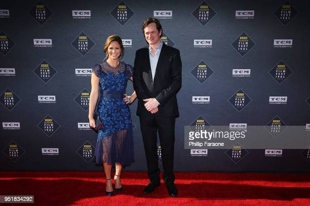 Andrea Savage and Tom Everett Scott attend the 2018 TCM Classic Film Festival Opening Night Gala 50th Anniversary World Premiere Restoration of The...