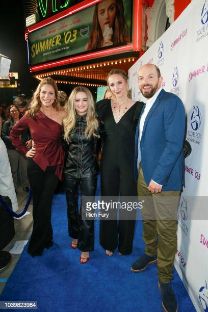Andrea Savage Joey King Rebecca Gleason and Paul Scheer attend the premiere of Blue Fox Entertainment's Summer '03 at the Vista Theatre on September...