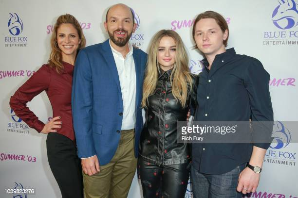 Andrea Savage Paul Scheer Joey King and Jack Kilmer attend the premiere of Blue Fox Entertainment's Summer '03 at the Vista Theatre on September 24...