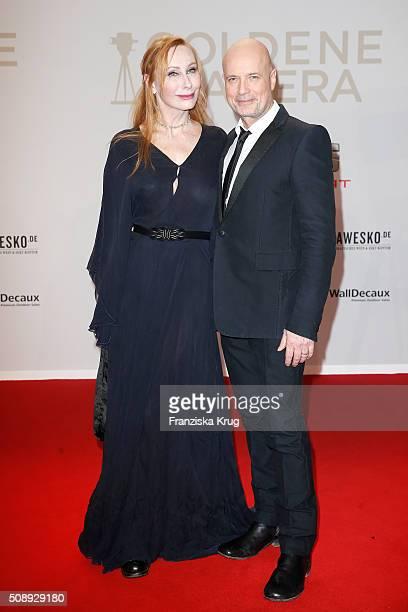Andrea Sawatzki and Christian Berkel attend the Goldene Kamera 2016 on February 6 2016 in Hamburg Germany