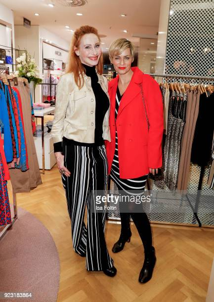 Andrea Sawatzki and Gesine Cukrowski attend the KaDeWe X Marc Cain Fashion Show Spring/Summer Collection 2018 at KaDeWe on February 22 2018 in Berlin...