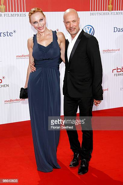 Andrea Sawatzki and husband actor Christian Berkel attend the German film award at Friedrichstadtpalast on April 23 2010 in Berlin Germany