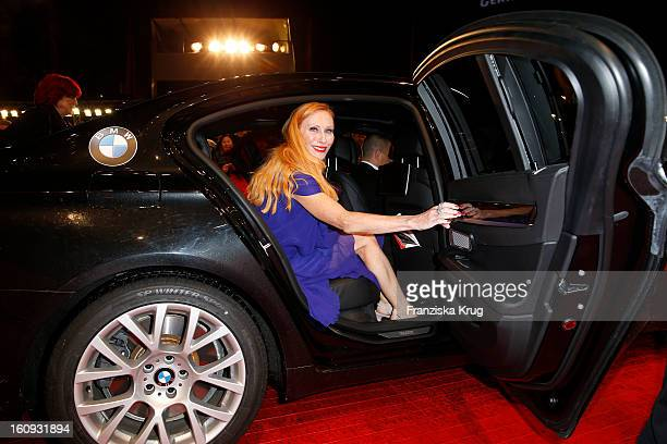 Andrea Sawatzki arrives at the 'The Grandmaster' Premiere BMW at the 63rd Berlinale International Film Festival at the Berlinale Palast on February 7...