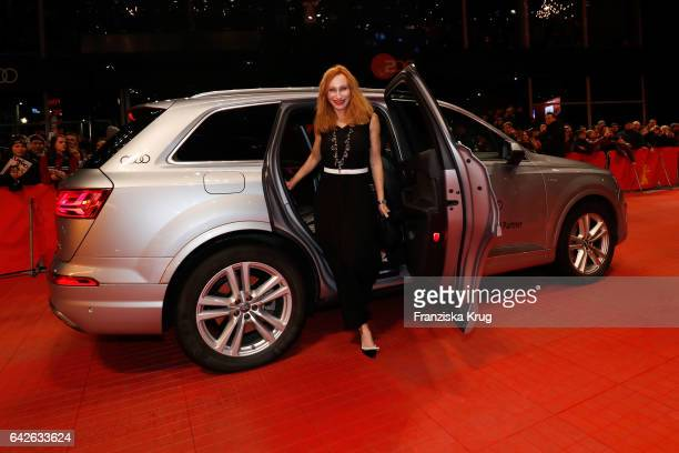 Andrea Sawatzki arrives for the closing ceremony of the 67th Berlinale International Film Festival Berlin at Berlinale Palace on February 18 2017 in...