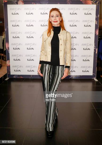 Andrea Sawatzki attend the KaDeWe X Marc Cain Fashion Show Spring/Summer Collection 2018 at KaDeWe on February 22 2018 in Berlin Germany
