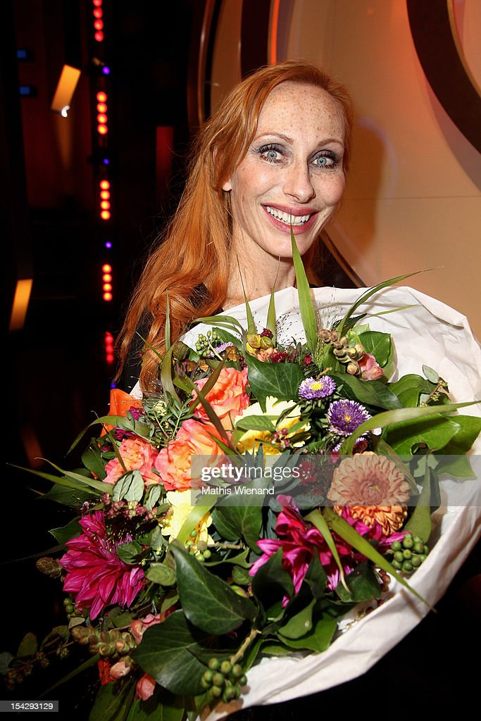 Andrea Sawatzki attends 'Die Quizshow' with Joerg Pilawa on October 17, 2012 in Cologne, Germany. The money goes to the 'Welthungerhilfe'!
