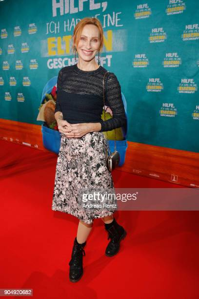 Andrea Sawatzki attends the premiere of 'Hilfe ich hab meine Eltern geschrumpft' at Cinedom on January 14 2018 in Cologne Germany