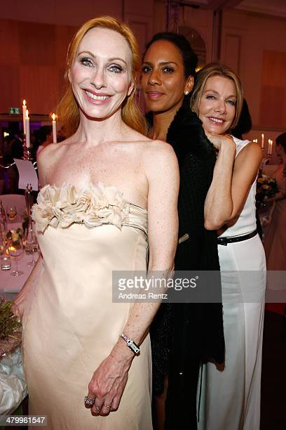 Andrea Sawatzki Barbara Becker and Ursula Karven attend the GLORIA German Cosmetic Award at Hilton Hotel on March 21 2014 in Duesseldorf Germany
