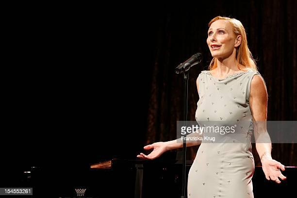 Andrea Sawatzki presents her programme 'Irgendwas ist immer mal zum Lachen mal zum Weinen' at the TIPI am Kanzleramt on October 22 2012 in Berlin...