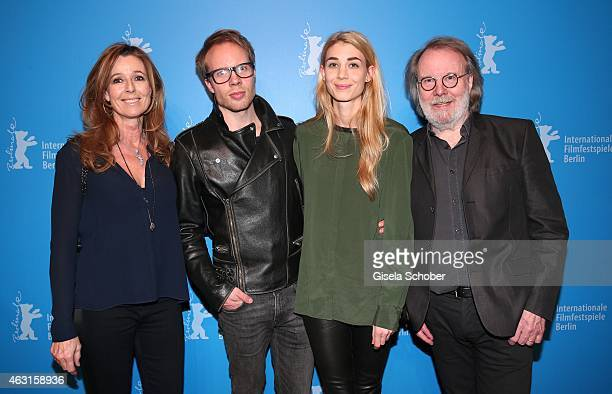 Andrea Schoeller, Ludvig Andersson and his girlfriend Mimi Schoeller, Benny Andersson, Founder of ABBA, during 'The Circle' Premiere during the 65th...