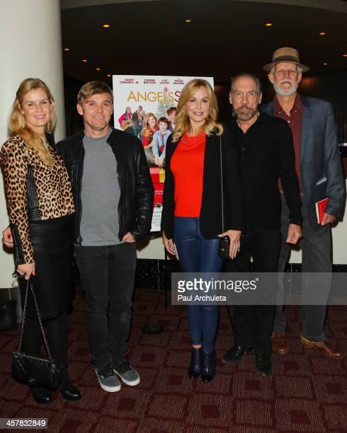 Andrea Schroder Rick Schroder Eloise Dejoria John Paul DeJoria and Turk Pipkin attend the screening of Angels Sing at ArcLight Cinemas on December 18...