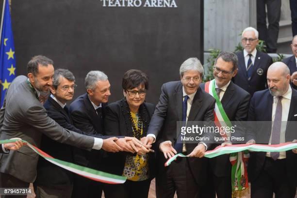 Andrea Segre President of FICO and Alessandro Bonfiglioli Director of FICO and Tiziana Primori CEO of Eataly and the italian Prime Minister Paolo...