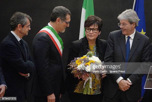Andrea Segre President of FICO and Virginio Merola Mayor of Bologna and Tiziana Primori CEO of Eataly and the italian Prime Minister Paolo Gentiloni...