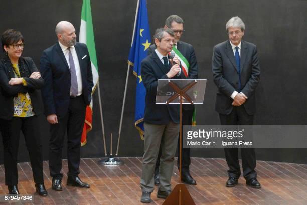Andrea Segre President of FICO holds his speech with Tiziana Primori CEO of Eataly and Stefano Bonaccini President of Emilia Romagna region and...