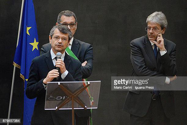 Andrea Segre President of FICO holds his speech with Virginio Merola Mayor of Bologna and the italian Prime Minister Paolo Gentiloni during the FICO...
