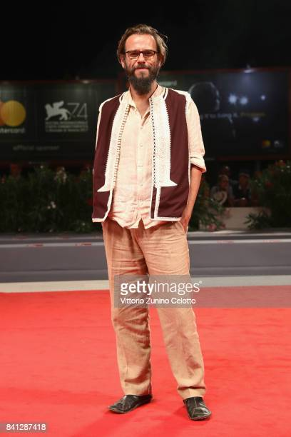 Andrea Segre walks the red carpet ahead of the 'The Insult' screening during the 74th Venice Film Festival at Sala Grande on August 31 2017 in Venice...