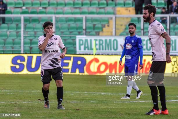 Andrea Silipo and Giovanni Ricciardo during the serie D match between SSD Palermo and Marsala at Stadio Renzo Barbera on January 05 2020 in Palermo...
