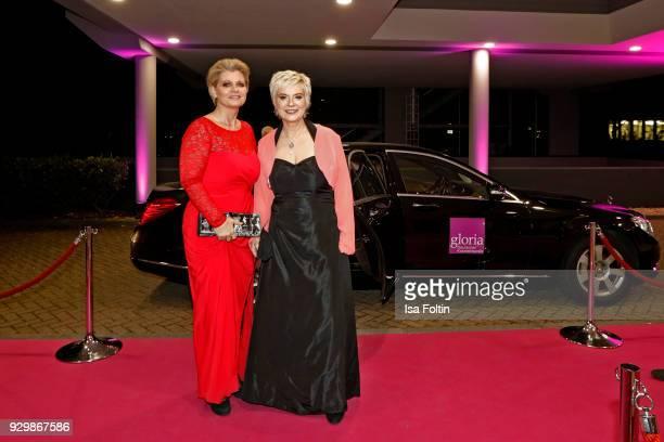 Andrea Spatzek and Birgit Lechtermann attend the Gloria Deutscher Kosmetikpreis at Hilton Hotel on March 9 2018 in Duesseldorf Germany