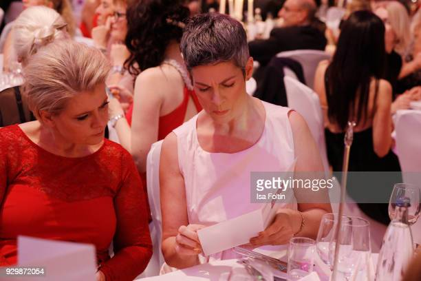 Andrea Spatzek and Cheryl Shepard attend the Gloria Deutscher Kosmetikpreis at Hilton Hotel on March 9 2018 in Duesseldorf Germany
