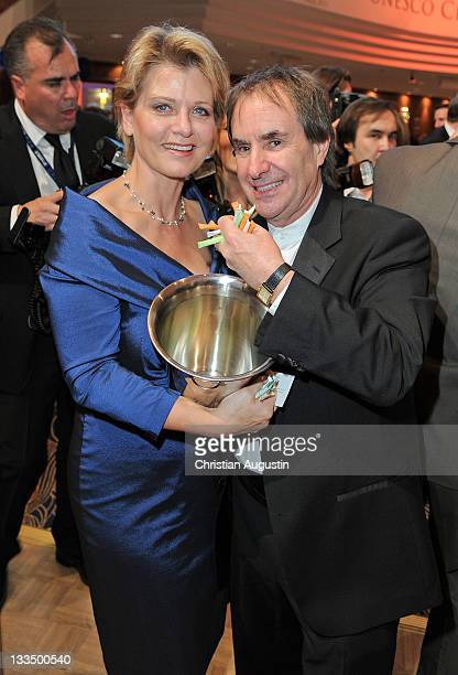 Andrea Spatzek and Chris de Burgh attend UNESCO Charity Gala 2011 at Maritim Hotel on November 19, 2011 in Duesseldorf, Germany.