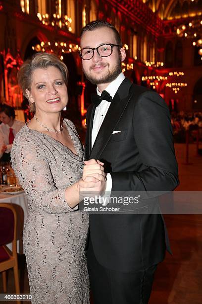 Andrea Spatzek and her son Alexander Spatzek during the Filmball Vienna 2015 on March 14 2015 in Vienna Austria