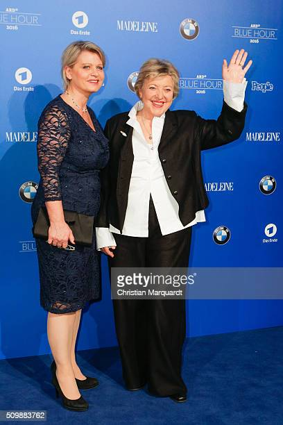 Andrea Spatzek and Marie-Luise Marjan attend the Blue Hour Reception hosted by ARD during the 66th Berlinale International Film Festival Berlin on...