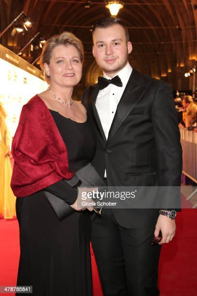 Andrea Spatzek and son Alexander attend the 5th Filmball Vienna at City Hall on March 14, 2014 in Vienna, Austria.
