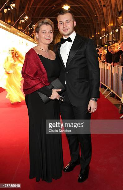 Andrea Spatzek and son Alexander attend the 5th Filmball Vienna at City Hall on March 14 2014 in Vienna Austria