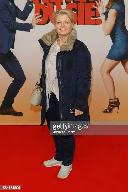 Andrea Spatzek attends 'Schatz Nimm Du sie' German movie premiere at Cineplex Cologne on February 7 2017 in Cologne Germany