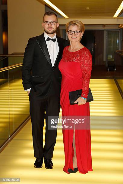 Andrea Spatzek with her son Alexander Spatzek attend the charity event dolphin aid gala 'Dolphin's Night' at InterContinental Hotel on November 26...