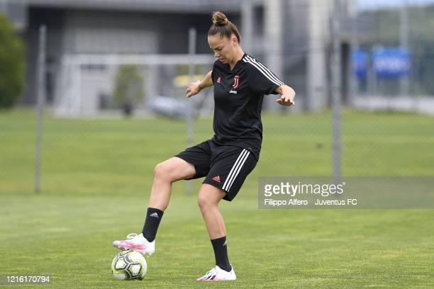 Andrea Staskova during a Juventus Women Training Session at Juventus Center Vinovo on May 29 2020 in Vinovo Italy
