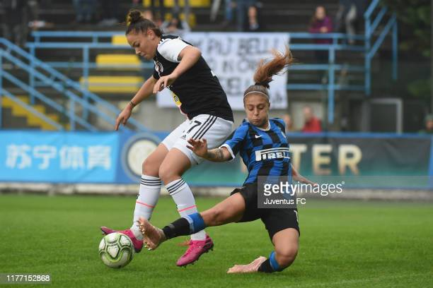 Andrea Staskova of FC Juventus Women in action during the Women Serie A match between FC Internazionale and Juventus at Campo Sportivo F Chinetti on...