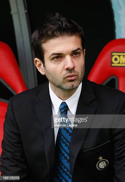 Andrea Stramaccioni head coach of FC Internazionale during the Serie A match between Calcio Catania and FC Internazionale Milano at Stadio Angelo...