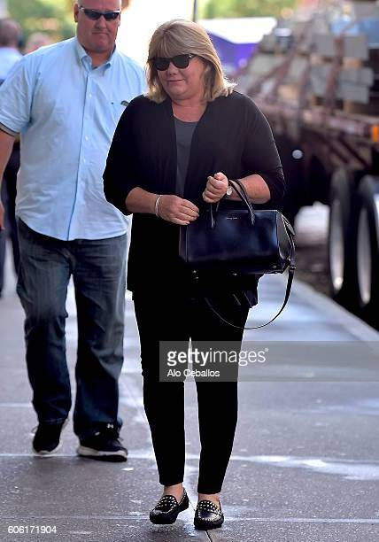 Andrea Swift is seen in Tribeca on September 16 2016 in New York City